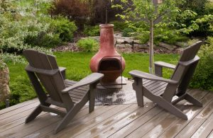 Can you put a chiminea on decking?