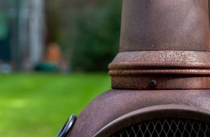 how to get rust off a cast iron chiminea.